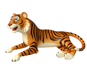 funsitting Tiger cartoon character