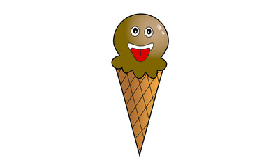 Ice cream cartoon illustrations. Illustration of chocolate ice c
