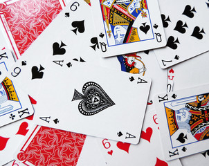 Playing cards, card game