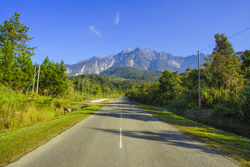 Mount Kinabalu view from Desa Dairy Farm, Kundasang
