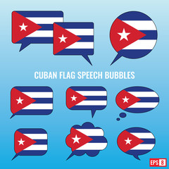 Cuban Flag Speech Bubbles