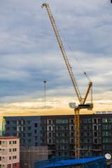 Construction of conduminium building, New colorful low rise apar