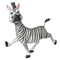 fun run Zebra cartoon character
