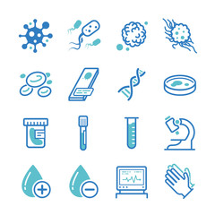 Laboratory icons set