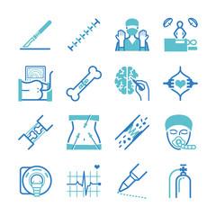 Surgery icons set