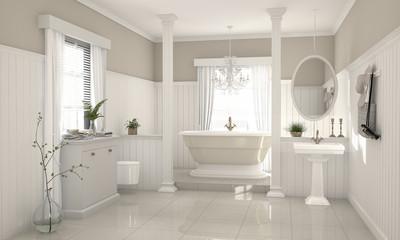 Nostalgisches Modernes Badezimmer Im Country Style