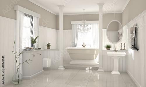 nostalgisches modernes badezimmer im country style pic. Black Bedroom Furniture Sets. Home Design Ideas