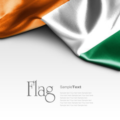 Flag of Ivory Coast on white background. Sample text.