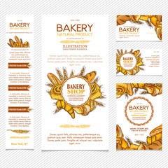 Bakery products restaurant menu template page template business