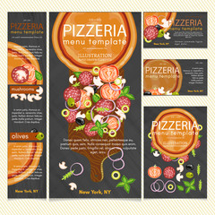 Pizza restaurant menu template vector