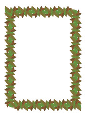Vertical frame with leaves