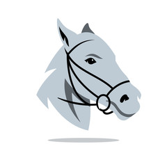 Vector Horse head Cartoon Illustration.