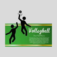 Volleyball design. Sport icon. Isolated illustration , editanle vector
