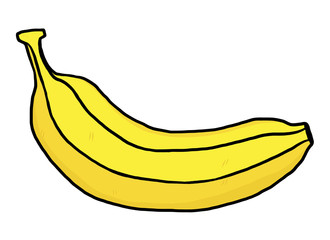 banana / cartoon vector and illustration, hand drawn style, isolated on white background.