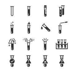 Test tube icons