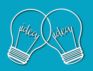 Idea design. Light bulb icon. Flat illustration , vector
