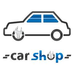 Wall Mural - Autowerkstatt, Autoteile-Shop - Logo / Icon