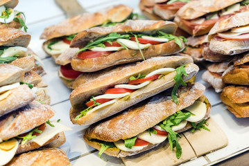 Italian sandwiches in the shop