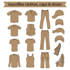 Menswear, headgear & shoes icecoffee collection