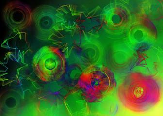 Zielone tło w spirale pod plakat
