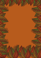 Floral background with stylized leaves. Vector clip art.
