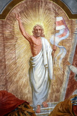 Historische Malerei, Darstellung von Christus dem Auferstandenen