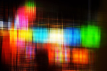 Abstract Colorful blur lights