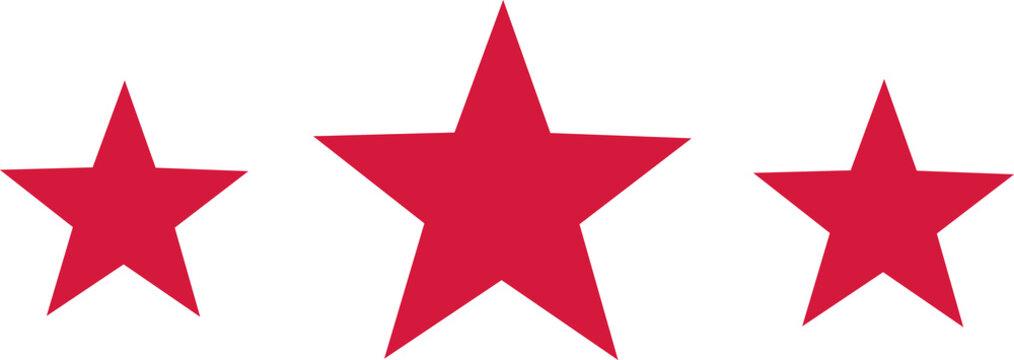 Three stars red