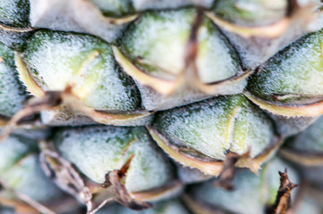 background of pineapple fruit