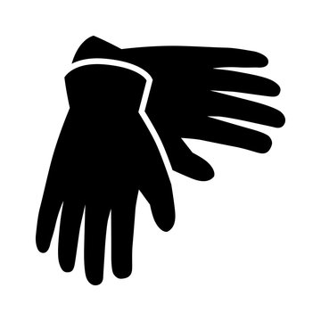 A pair of gloves for hand protection flat icon for apps and websites