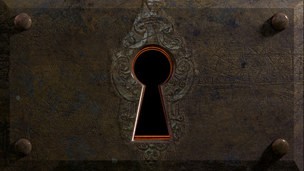 Embossed Keyhole