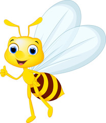 bee cartoon posing