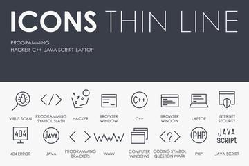 Programming Thin Line Icons