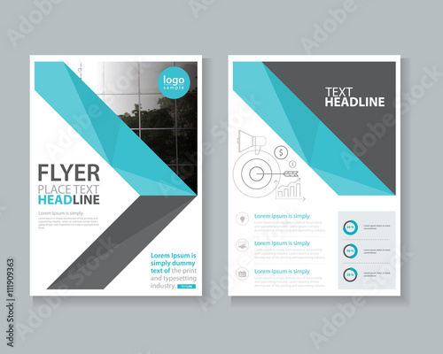 page brochure flyer report layout design template and cover