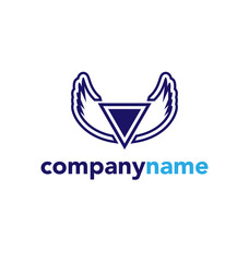 Vector graphic blue wings element