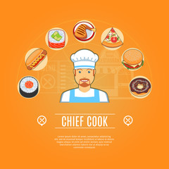 Chief Cook Concept Icons