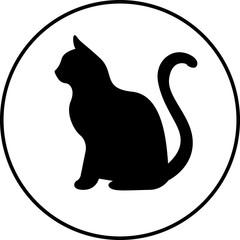 Black silhouette of cat.