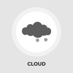 Snow flat icon
