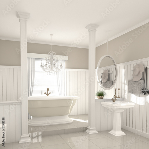 Bad badezimmer nostalgisch landhausstil country style - Badezimmer landhausstil ...