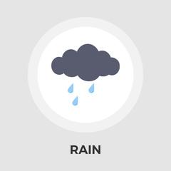 Rain vector flat icon