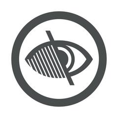 Icono plano ciego en circulo color gris