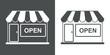 Detaily fotografie Icono plano tienda