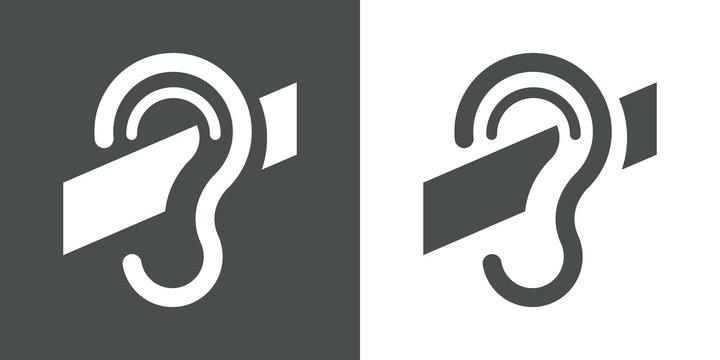 Icono plano sordo