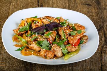 Stir-fried chicken