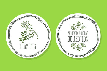 Ayurvedic Herb - Product Label with Turmeric