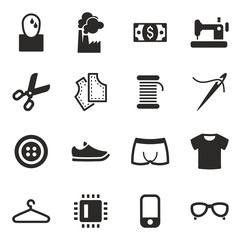 Sweatshop Factory Icons