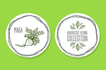 Ayurvedic Herb - Product Label with Maca