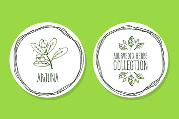 Ayurvedic Herb - Product Label with Arjuna