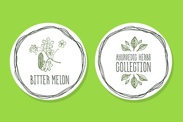Ayurvedic Herb - Product Label with Bitter melon