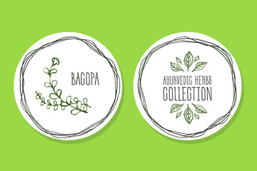 Ayurvedic Herb - Product Label with  Bacopa